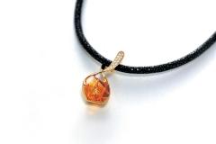 Étoile [エトワール] K18 シトリン ダイヤモンド(カービングアートジェムストーン) ペンダント