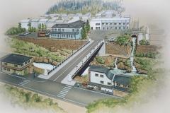 郡上八幡新橋パース/模型