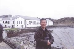 ".ISLAY島""LAPHROAIG""蒸留所にて。2012年。"