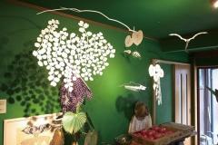 「森の中のシルエット」森林食堂
