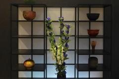 茶室無垢桧塗り飾り棚Rin-漆 Iwam i Riving Creation co,ltd