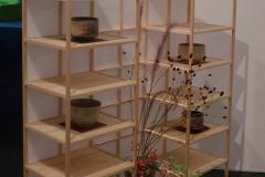 茶室無垢桧 飾り棚Rin Iwami Riving Creation co,ltd