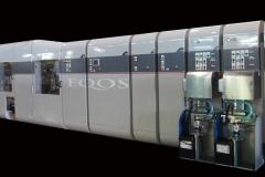 高速多色コルゲート印刷機 Eqos Umetani co,ltd