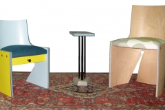 WingTip Chair・ Wedge Table・FanTail Chair