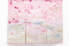 「春爛漫・井出玉川の桜」 タペストリー 2012 草木染 ビエンナーレ in あいち